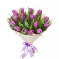 009. 15 розовых тюльпанов