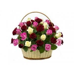 14. Корзина с розами