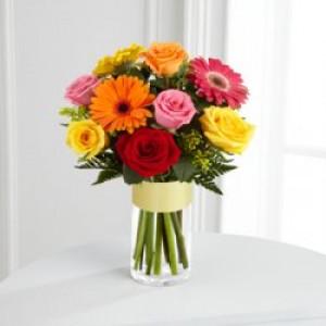 7 роз и 4 герберы