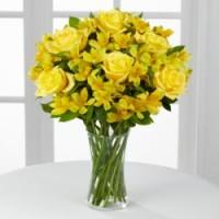 9 роз и 12 альстермерии
