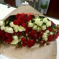 15 кустовых роз.