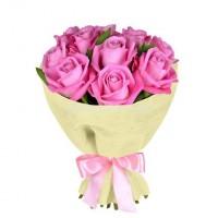 17 розовых роз